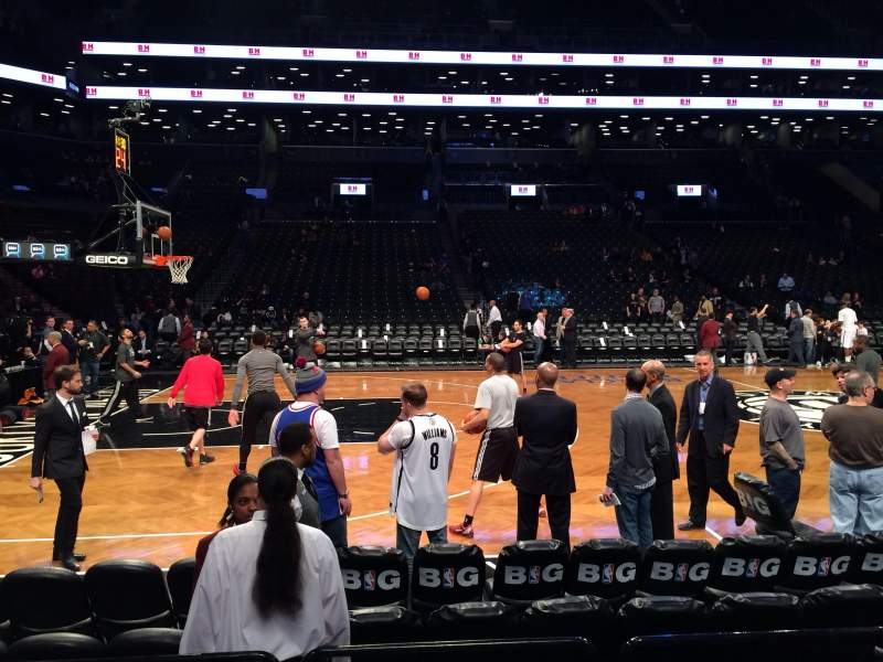 Seating view for Barclays Center Section 9 Row 2 Seat 7