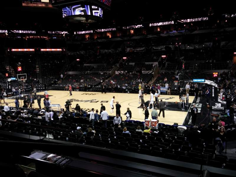 Seating view for AT&T Center Section 106 Row 20 Seat 1