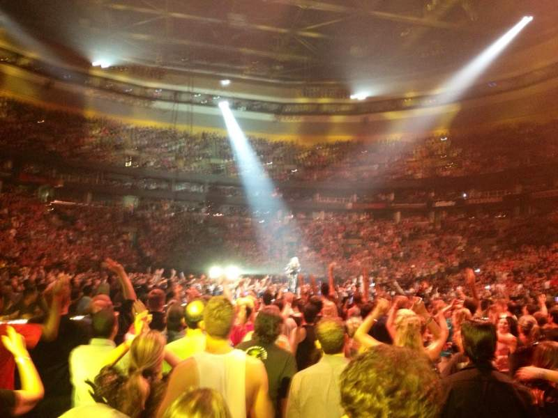 Seating view for TD Garden Section GA