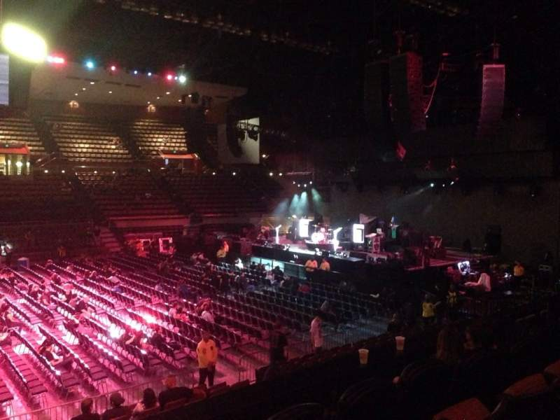 Seating view for Selland Arena Section 10 Row G Seat 2
