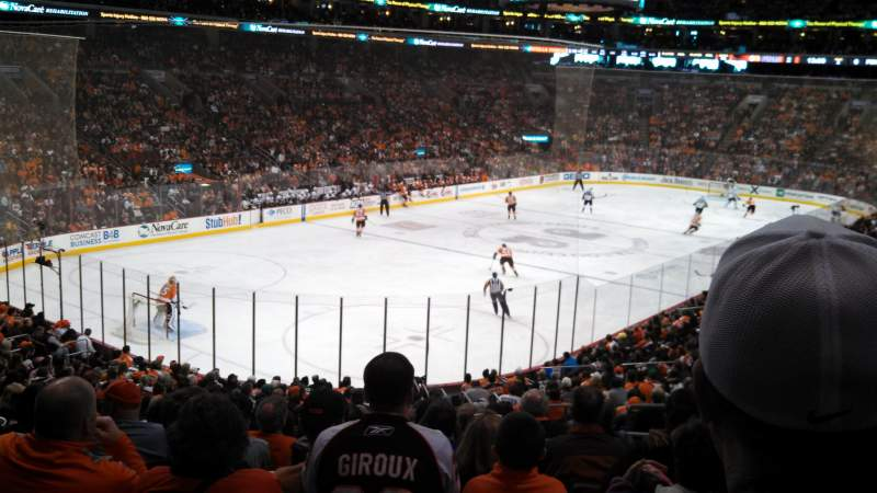 Seating view for Wells Fargo Center Section 109 Row 25 Seat 17