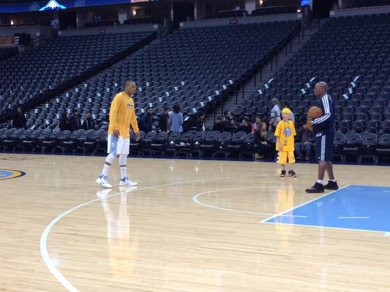Seating view for Pepsi Center Section Nuggets Bench