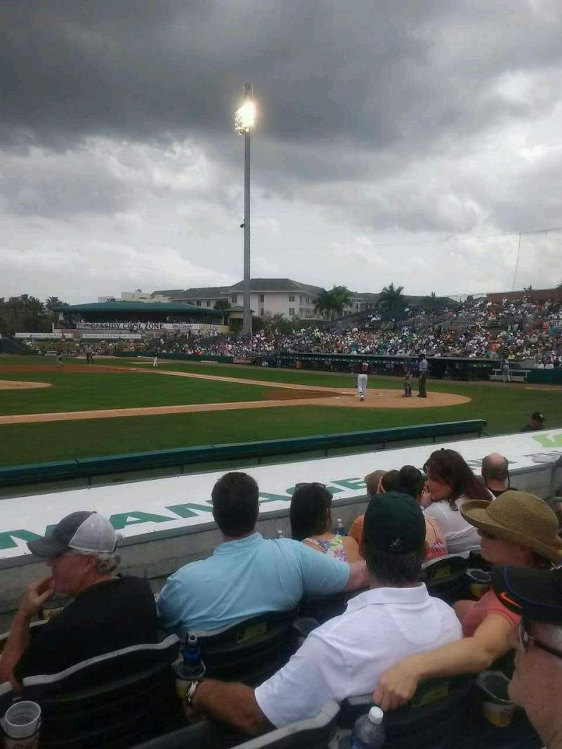Seating view for Roger Dean Stadium Section 118 Row 8 Seat 7
