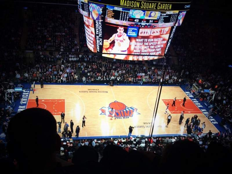 Seating view for Madison Square Garden Section 312 Row 2 Seat 18