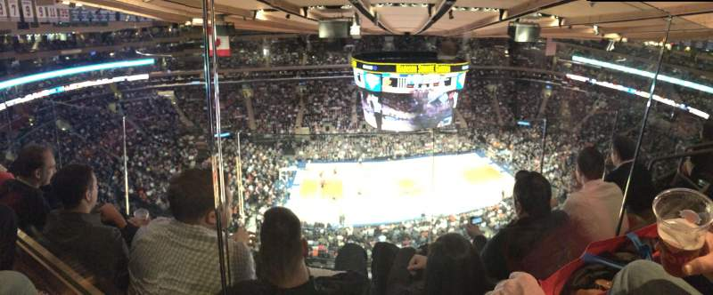 Madison Square Garden Section 312 Row 2 Seat 18 New York Knicks Vs Indiana Pacers Shared