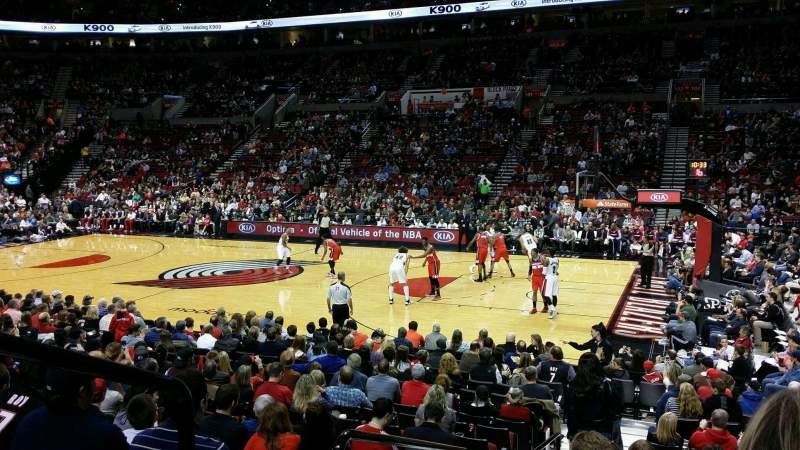 Seating view for Moda Center Section 110 Row M Seat 22