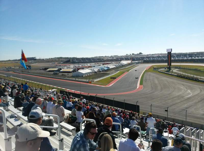 Seating view for Circuit of the Americas Section Turn 12 GrandStand