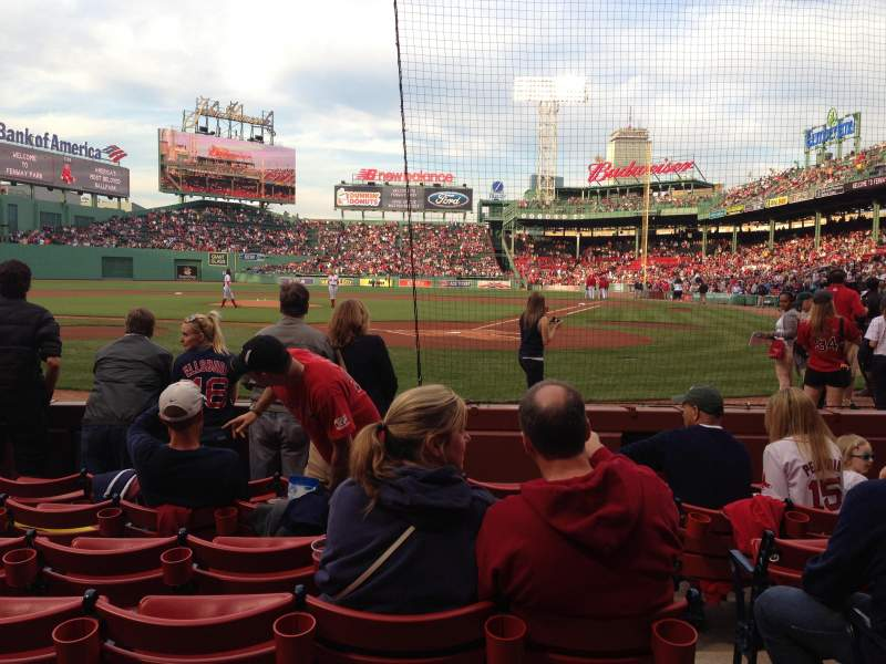 Seating view for Fenway Park Section Field Box 49 Row D Seat 2