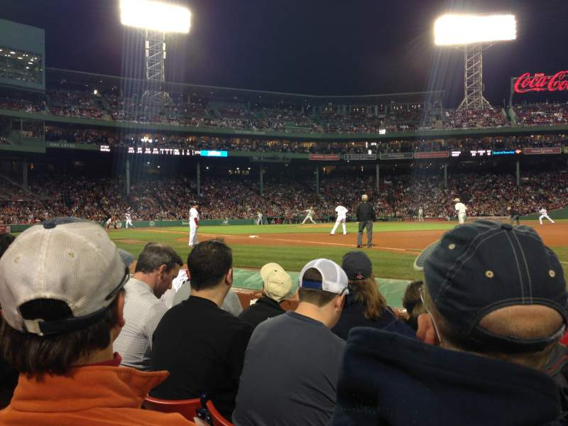 Seating view for Fenway Park Section Field Box 14 Row A Seat 2