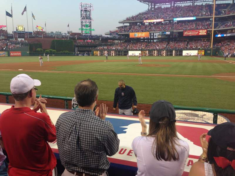 Seating view for Citizens Bank Park Section 129 Row 3 Seat 1