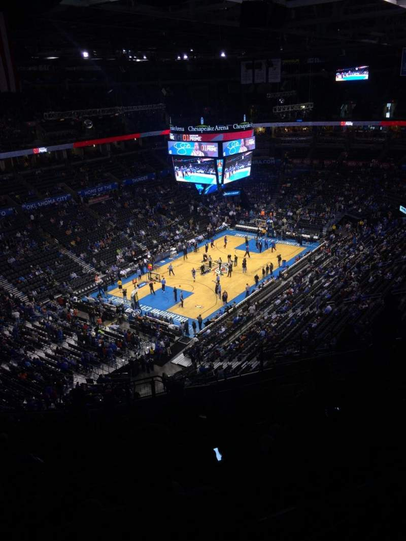 Seating view for Chesapeake Energy Arena Section 313 Row P Seat 11