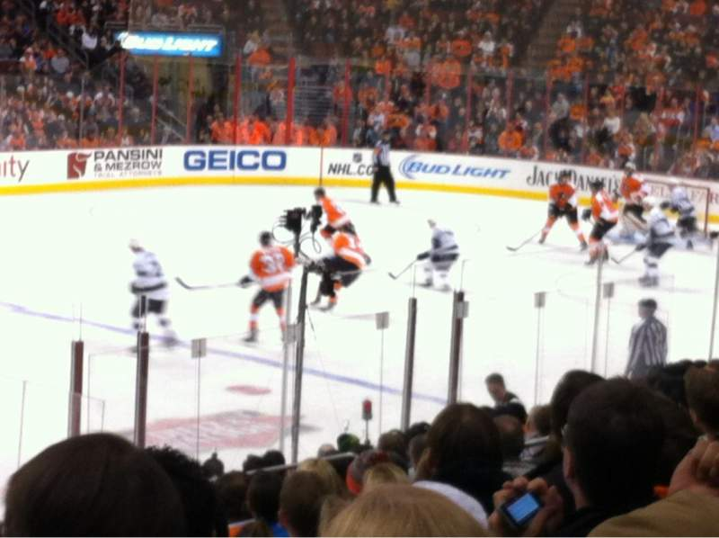 Seating view for Wells Fargo Center Section 112 Row 16 Seat 2