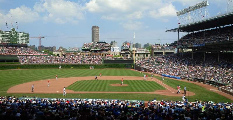Seating view for Wrigley Field Section 215 Row 11 Seat 3