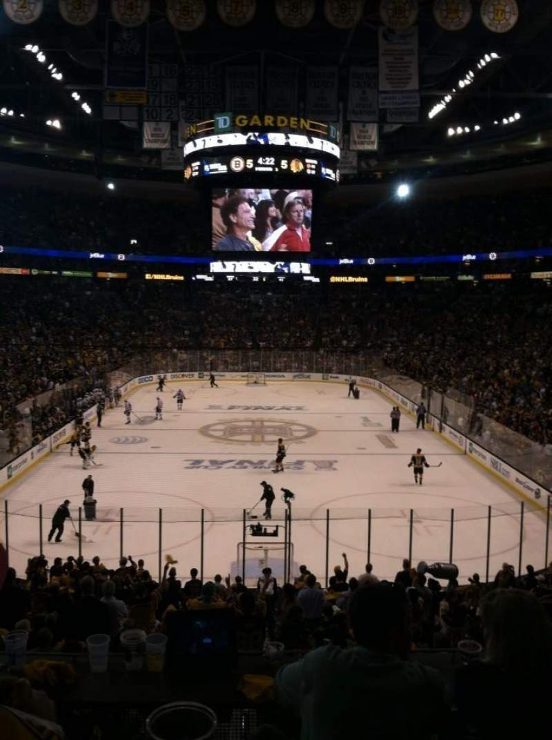 Seating view for TD Garden Section Loge 18 Row 21 Seat 1