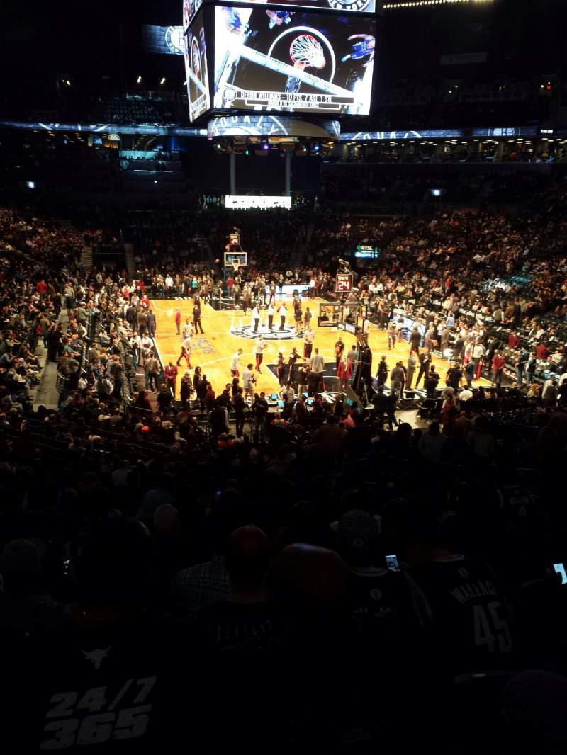 Seating view for Barclays Center Section 117 Row 4 Seat 5