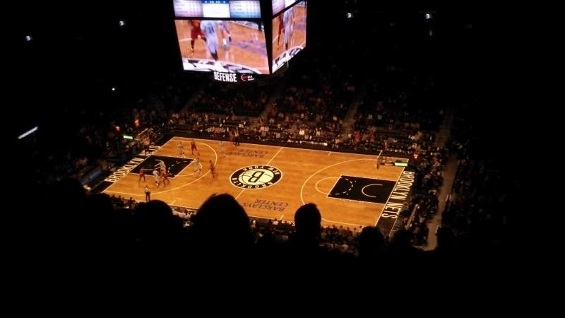 Seating view for Barclays Center Section 206 Row 18 Seat 3