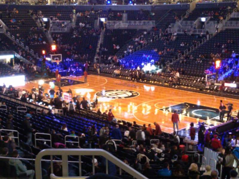 Barclays Center, section: 104, row: 4, seat: 2