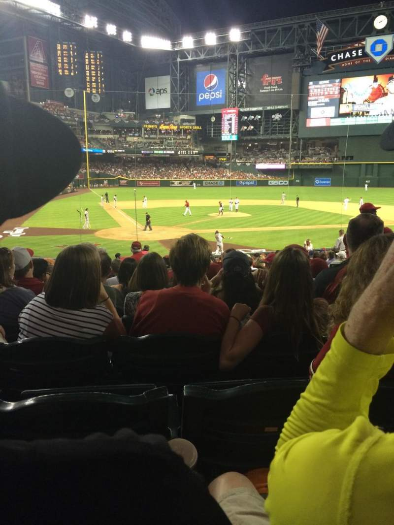 Seating view for Chase field Section 119 Row 29 Seat 3