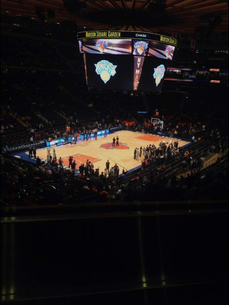 Madison Square Garden: Madison Square Garden, Section 220, Row 1, Home Of New