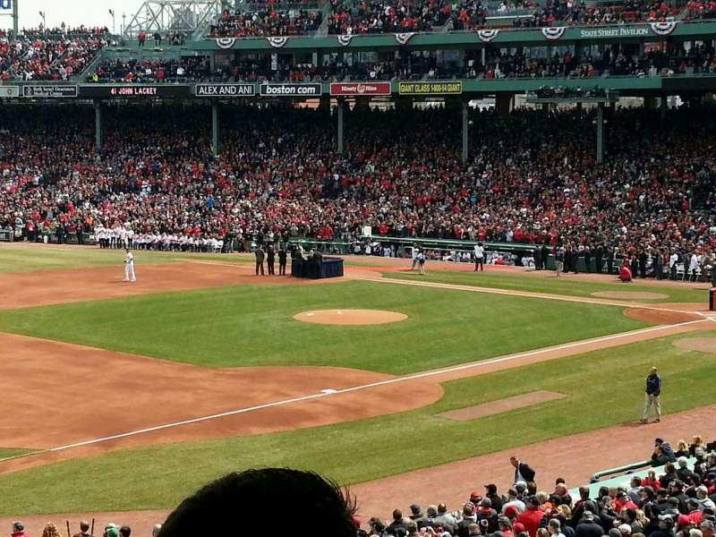 Seating view for Fenway Park Section Grandstand 30 Row 10 Seat 6