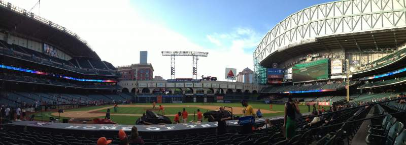Seating view for Minute Maid Park Section 124 Row 12 Seat 9