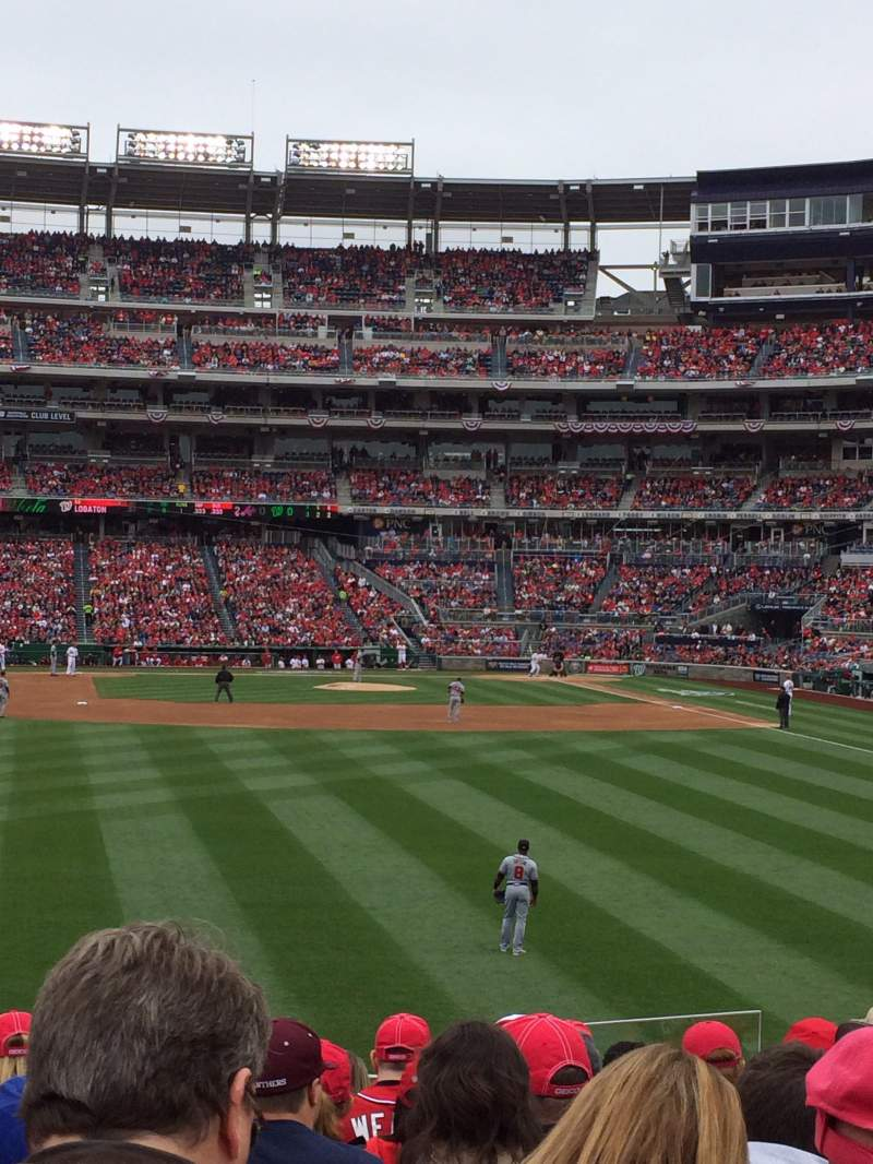 Seating view for Nationals Park Section 103 Row N Seat 5