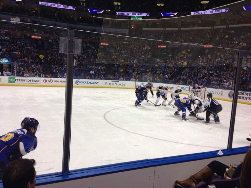 Seating view for Scottrade Center Section 115 Row D Seat 6