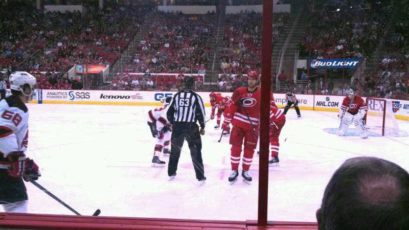 Seating view for PNC Arena Section 116 Row C Seat 5