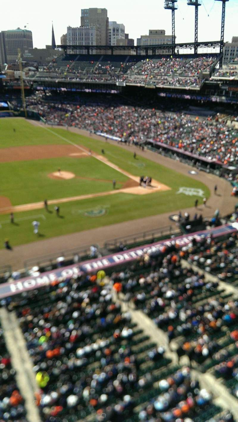 Seating view for Comerica Park Section 334 Row A Seat 8