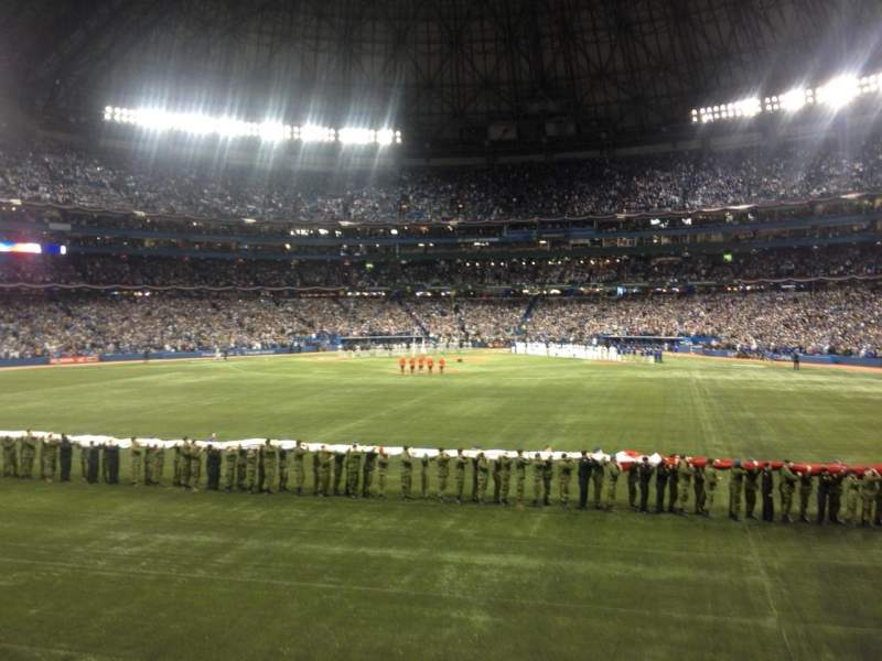 Seating view for Rogers Centre Section 141r Row 1 Seat 3