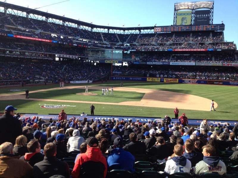 Seating view for Citi Field Section 113 Row 23 Seat 8