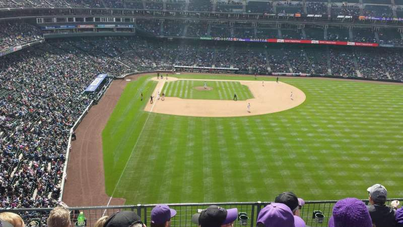 Seating view for Coors Field Section L307 Row 5 Seat 14
