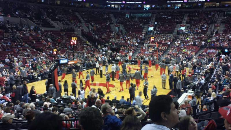 Seating view for Moda Center Section 105 Row j Seat 13