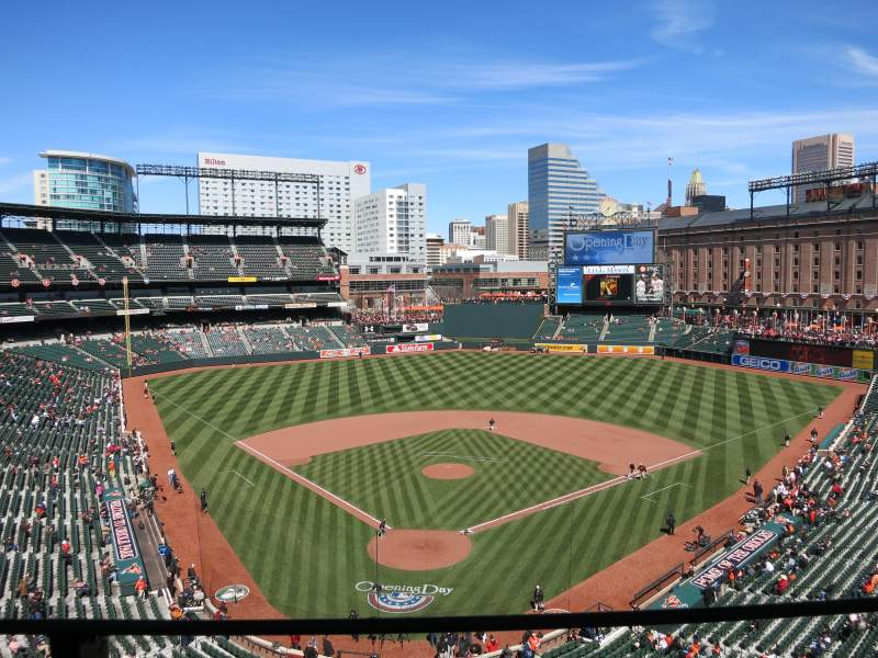 Seating view for Oriole Park at Camden Yards Section 334 Row 1 Seat 7