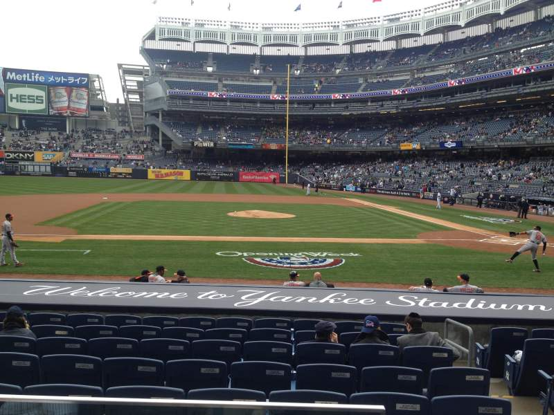 Seating view for Yankee Stadium Section 123 Row 1