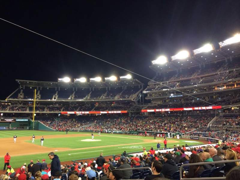 Seating view for Nationals Park Section 114 Row Z Seat 8
