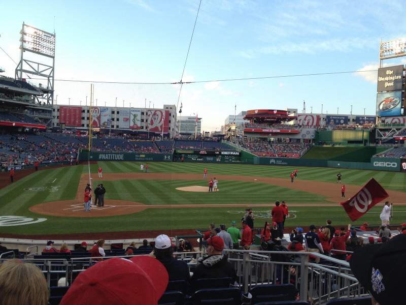 Seating view for Nationals Park Section 126 Row F Seat 4