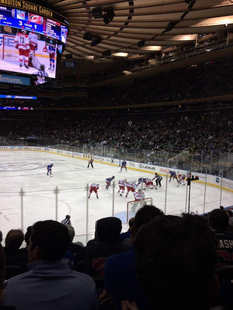 Seating view for Madison Square Garden Section 111 Row 11 Seat 11