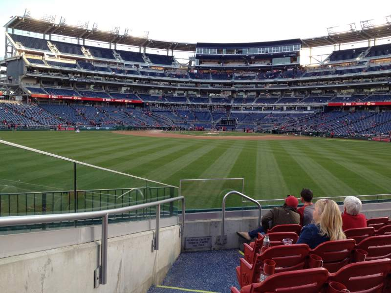 Seating view for Nationals Park Section 100 Row G Seat 36