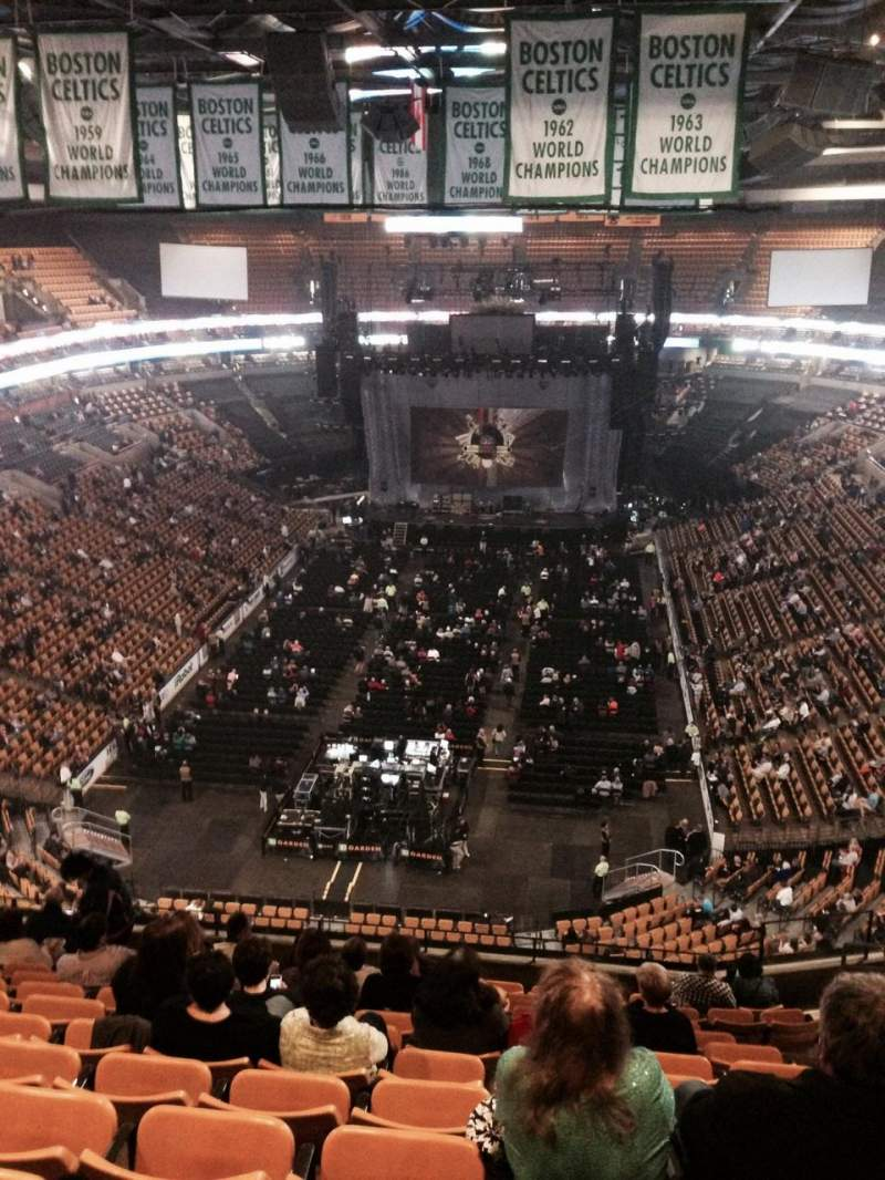 Seating view for TD Garden Section Bal 308 Row 13 Seat 8