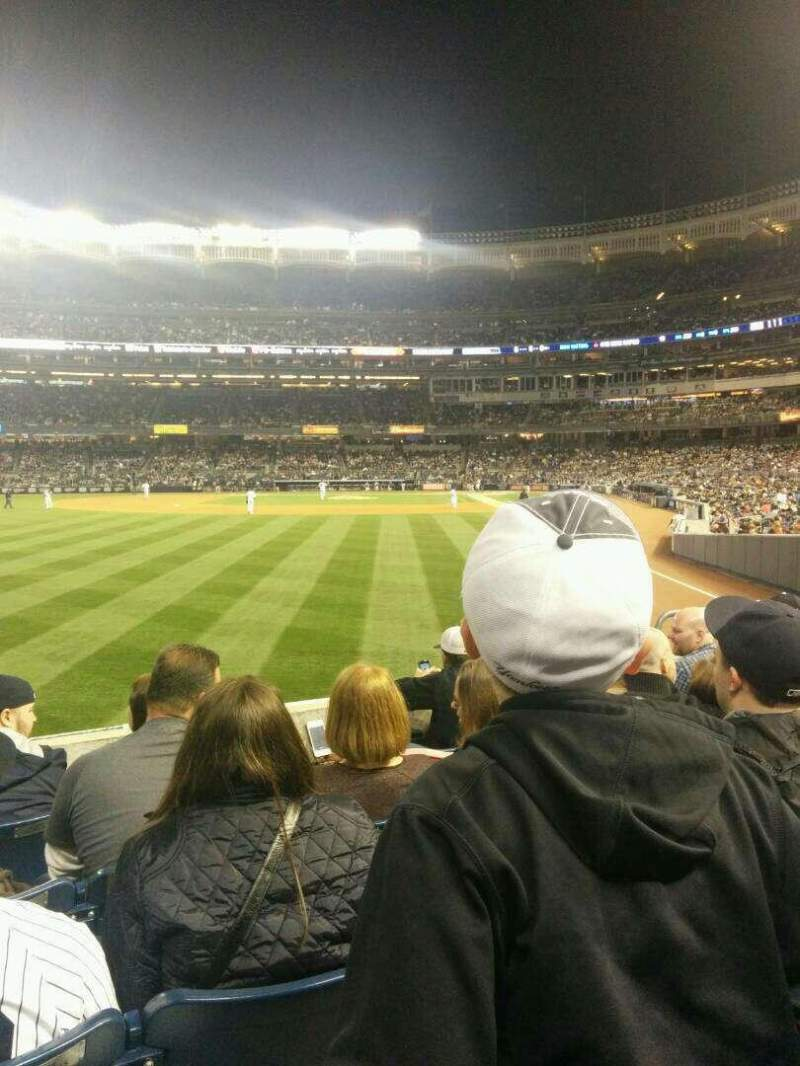 Seating view for Yankee Stadium Section 133 Row 15 Seat 9
