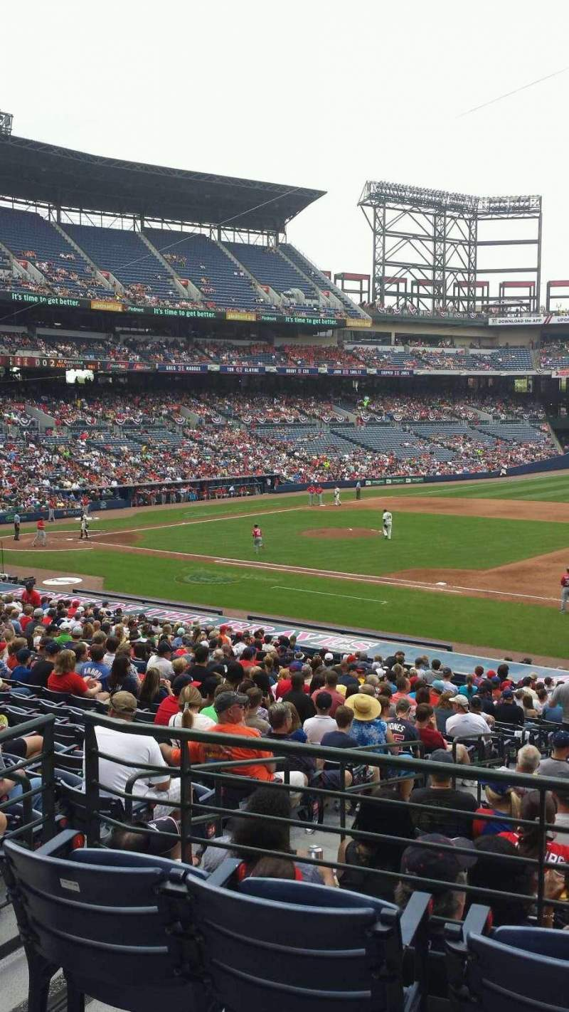 Seating view for Turner Field Section 217 Row 1 Seat 5