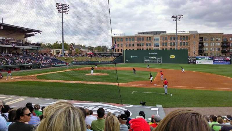 Seating view for Fluor Field Section 113 Row N Seat 3