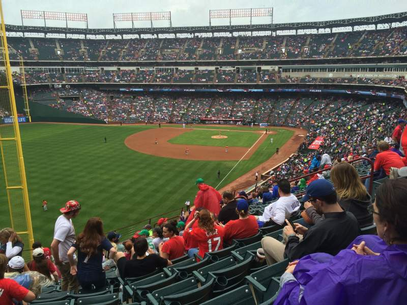 Seating view for Globe Life Park in Arlington Section 209 Row 12 Seat 5
