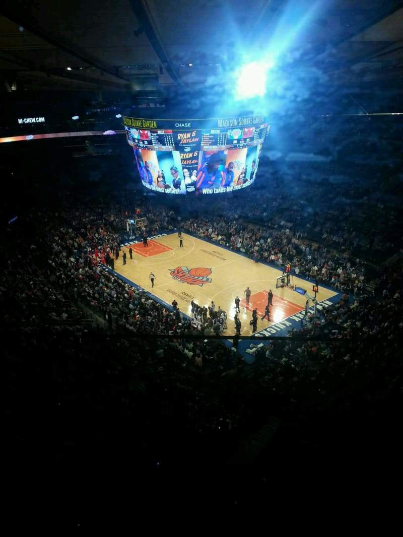 Seating view for Madison Square Garden Section 317 Row 2 Seat 8