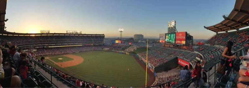 Seating view for Angel Stadium Section 533 Row C Seat 20
