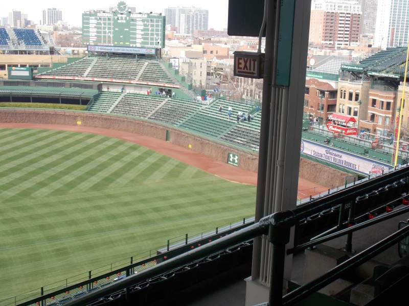 Seating view for Wrigley Field Section 530 Row 4 Seat 12