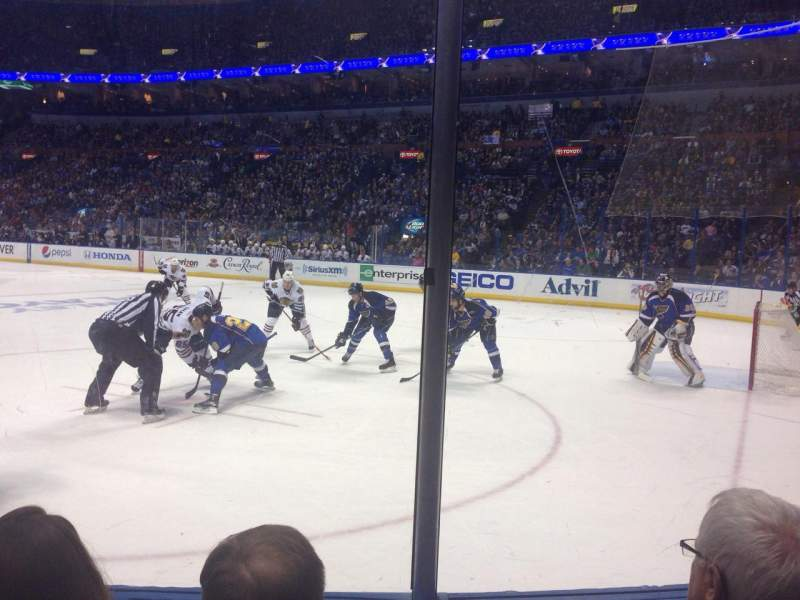 Seating view for Scottrade Center Section 113 Row C Seat 1