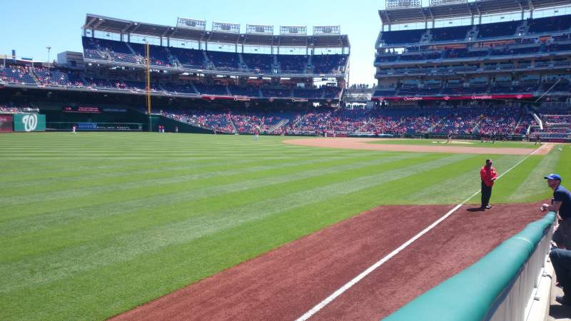 Seating view for Nationals Park Section 108 Row N Seat 13