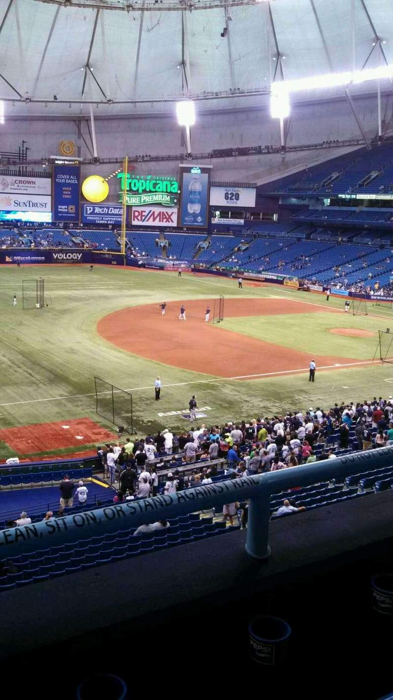 Seating view for Tropicana Field Section 217 Row B Seat 1